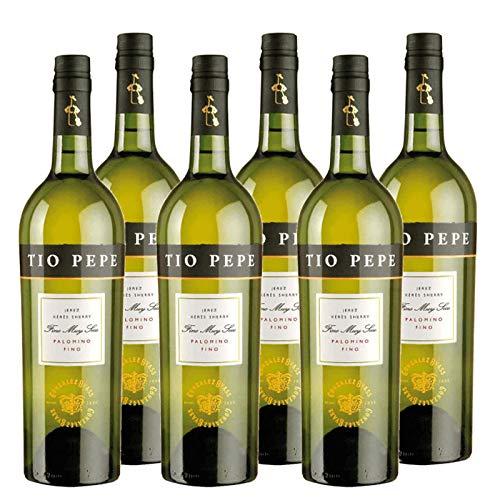 Großzügiger Wein Tio Pepe Palomino Fino 75 cl - D.O. Jerez - Bodegas Gonzalez Byass (6 Flaschen)