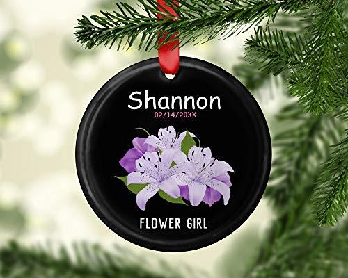 Dozili Gepersonaliseerd voor Bloemenmeisje Aluminium Kerstmis Ornament