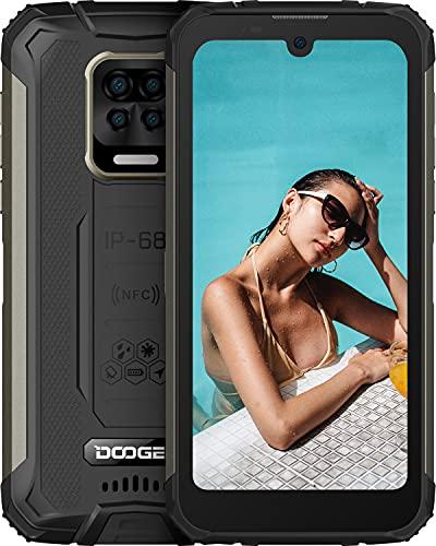 DOOGEE S59 [2021] Rugged Smartphone 10050 mAh, 4GB+64GB, Cellulare Robusto IP69K lP68, Potente Altoparlante, Fotocamera Quadrupla da 16 M + Frontale da 16 MP Cellulari Offerta Android 10, NFC GPS