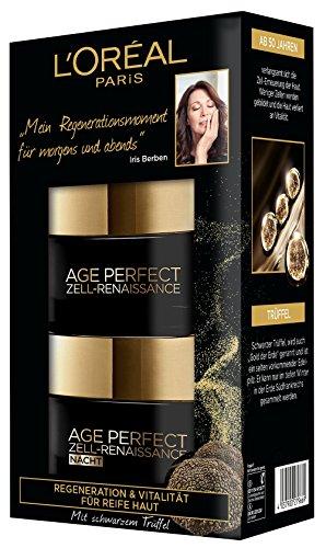 L\'Oreal Paris reichhaltige Anti-Aging Feuchtigkeitspflege für frischer wirkende Haut, Tag und Nacht Geschenkset, Age Perfect Zell-Renaissance