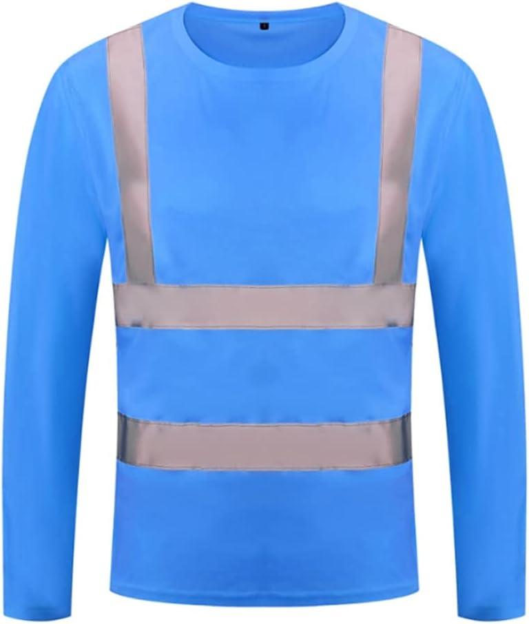 ZANZAN High Import Visibility Reflective Safety Shirts New Free Shipping T Long Mo Sleeve