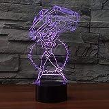 3D Illusionslampe LED Nachtlicht Cartoon Mädchen Aufzug Auto USB Fernbedienung Touch Switch Tischlampe USB Bunt für Kinder Spielzeug Geschenk