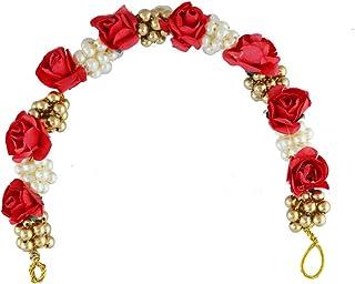 252cd99ac Anuradha Art Red Colour Adorable Fancy Traditional Hair Gajra Ambada Pin  for Women/Girls