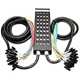 Seismic Audio - New 32 Channel XLR Send Splitter Snake Cable with Box - Two Trunks 15' and 30'...
