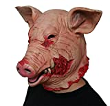 Gmask 2018 Latex Scary Pig Head Mask for Halloween Costume Party