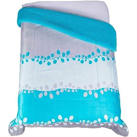 Colchas Concord Capri Cobertor de Borrega, Azul, Matrimonial 1.80 X 2.20 Mts.