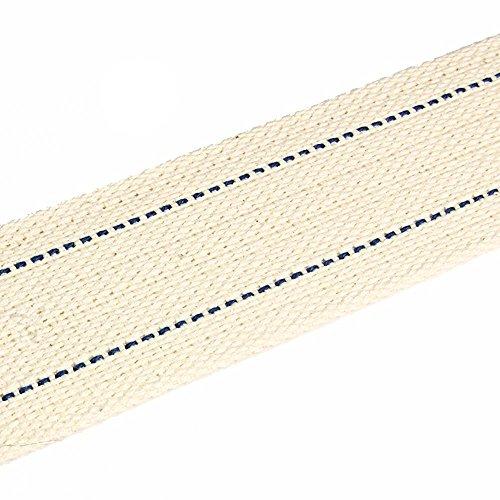 NKlaus 1 Meter 42mm 100% Natürliche Baumwolle Lampendocht flach Litzendocht Laternendocht für Ölbrenner Öllampe mit gereinigtem Petroleum 1304