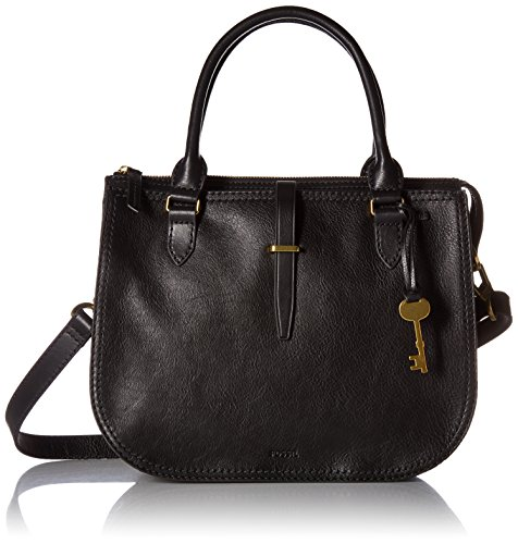 Fossil Women's Ryder Leather Satchel Handbag, Black