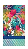 Boston International Disposable Hand Towels for Bathroom Guest Towels Decorative Paper Fingertip Towels, Hawaiian Luau Party Hibiscus Party Napkins Pak 32