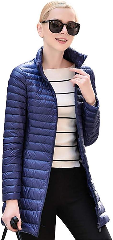 ELFJOY Womens Ultralight Packable Long Puffer Down Jacket
