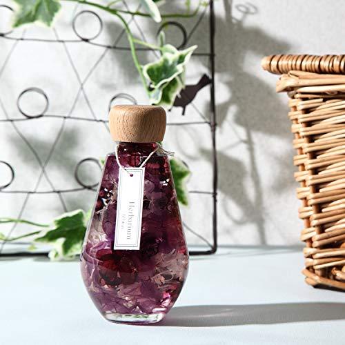 フェリナス『ハーバリウムしずく瓶型パープル』