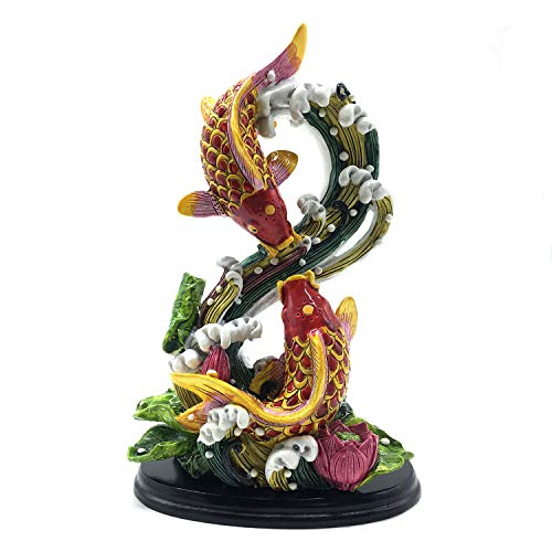 better us Chinese Feng Shui Fish Statue Feng Shui Decor...