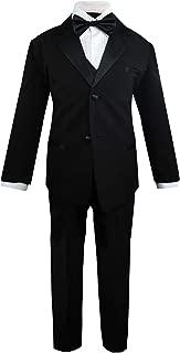 Luca Gabriel Toddler Boys' 5 Piece Classic Fit Formal Suit Bowtie Set