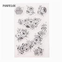 花壇透明なクリアシリコーンスタンプ/シールDIYスクラップブッキング/フォトアルバム装飾的なクリアスタンプシート