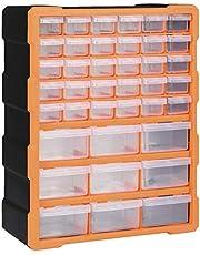 Festnight Organizador multicajones con 39 cajones 38x16x47 cm