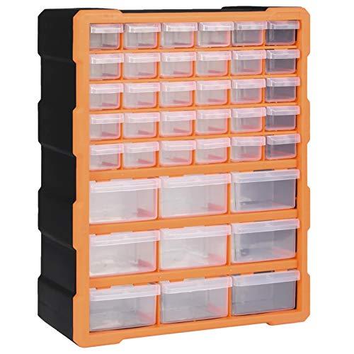 pedkit Organizador Multicajones Organizadores de Herramientas Caja de Almacenamiento Armario de Herramientas con 39 Cajones 38x16x47 cm