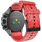 ANBEST Compatible con la Pulsera Suunto 9 Baro, Pulseras de Repuesto de 24 mm Correa de Reloj de Silicona Suave para Suunto 7/Suunto 9/Suunto D5/Suunto Spartan Sport Wrist HR Smart Watch