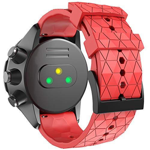 ANBEST Kompatibel mit Suunto 9 Baro Armband, 24mm Ersatz Armbänder Weiches Silikon Uhrenarmband für Suunto 7/Suunto 9/Suunto D5/Suunto Spartan Sport Wrist HR Smart Watch