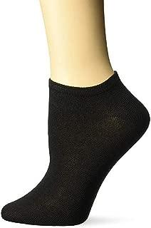 Womens Performance Low Cut No Show Socks Size 9-11 Black 10 Pack
