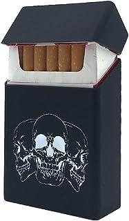 Custodia per sigarette morbida con teschio, colore: Nero
