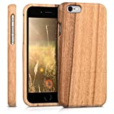 kwmobile Funda Compatible con Apple iPhone 6 / 6S - Carcasa Protectora de Madera - Case para móvil - marrón Claro