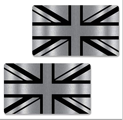 Biomar Labs 2 x Adesivi Inglese Vinile Regno Unito UK Union Jack Flag GB Gran Bretagna Bandiera per Auto Moto Finestrìno Scooter Bici Casco Tuning B 257