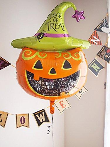 ヘリウムガス入り バルーン パンプキン かぼちゃ 特大風船 ハロウィンバルーン パーティ装飾 (ウィッチパンプキンバルーン)