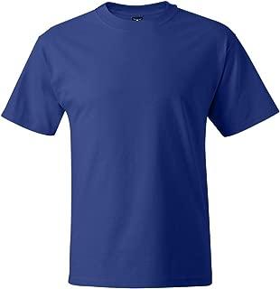 Hanes Men's Beefy-T Crewneck Short-Sleeve T-Shirt, Deep Royal - Large Tall