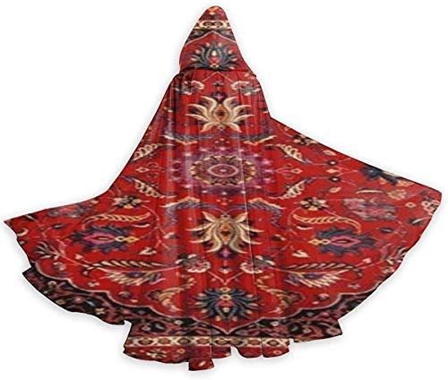 remmber me Persian Mashad Erwachsenen Mantel Unisex Halloween Robe Ganzkörperansicht Kapuzenmantel für Weihnachten Cosplay Party Schwarz 59x15.8 inch