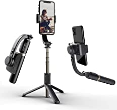 Gimbal Stabilizer 360° Selfie Stick for Smartphone with Extendable Bluetooth Selfie Stick and Tripod, 1-Axis Multifunction Remote 360°Automatic Rotation, Auto Balance iPhone/Android