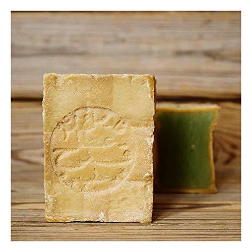 Moè® Original Aleppo Seife 80%/20% - Olivenöl 80% Lorbeeröl 20% fürs Haar, Gesicht & Körper - 100% Naturprodukt Vegan – Alepposeife Olivenölseife Handarbeit - 200g - Plastikfreie Verpackung