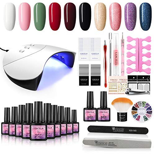 (40% OFF) Everything You Need Gel Nail Polish Kit  $17.99 Deal