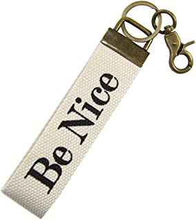 Jules Products Wristlet Key Chain Fob Be Nice
