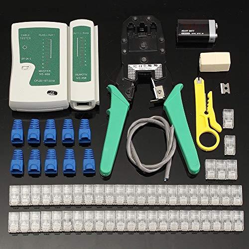 No-Branded RJ45 Tester Ethernet LAN Tester Kit Cable Crimper Crimping...