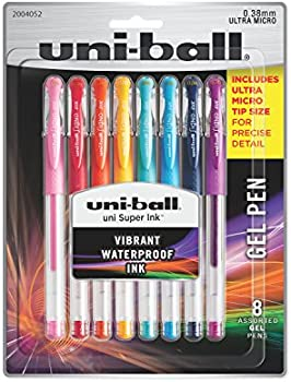 8-Count Uni-Ball Ultra Micro 0.38mm Point Gel Pens