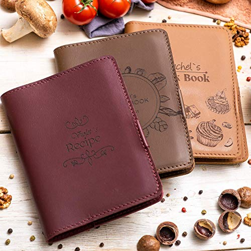 Leather Blank Recipe Book - Personalized Recipe Notebook - Family Cookbook Journal Custom Sketchbook To Write In Organizer by Enjoy The Wood
