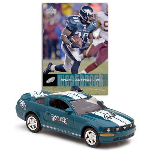 Eagles Brian Westbrook #36 2006 Ford Mustang GT NFL Upper Deck Diecast Car with Card - Philadelphia