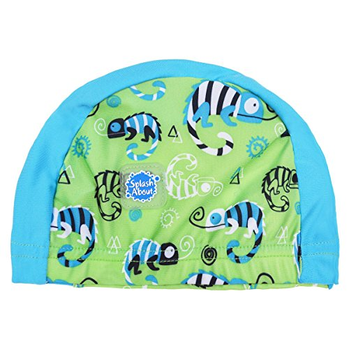 Splash About Gorro de natación, niños, Infantil, Color Green Gecko, tamaño 0-18 Meses