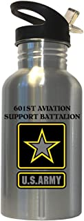 601st Aviation Support Battalion - US Army Stainless Steel Water Bottle Straw Top, 1022