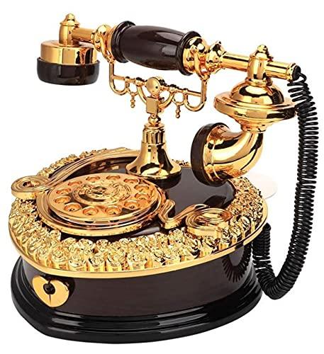 JDJFDKSFH Teléfono en Forma de corazón Modelo de teléfono Caja de música, Caja Musical Creativa Café Bar Ventana Escritorio Decoración Ornamento Hogar Decoración Regalo de Cum