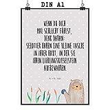 Mr. & Mrs. Panda Wandposter, Geschenk, Poster DIN A1 Otter