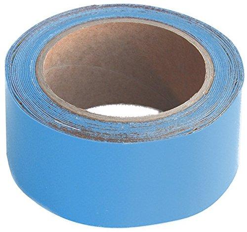 Wupsi Cinta de Reparación de PVC - para Lonas, Cubierta de Remolque, Invernadero, Toldo, Carpa, Tienda Campaña y Persianas - Azul Claro, 5 Cm X 5 M