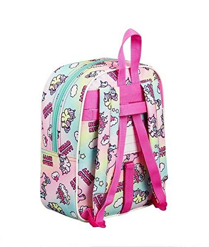 Hello Kitty Candy Unicorns Mochila guardería niña Adaptabl