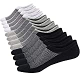 Ueither 12 Pares Calcetines Cortos Hombre Mujer Invisibles Respirable y Super Suaves Calcetines Tobilleros Algodón Antideslizantes