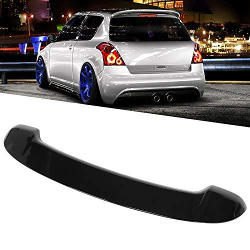 Terisass Heckspoiler Spoiler Sport Style Spoiler Protector Lip Fit für Su-zuki Swift Mk3 2005-2010 Schwarz glänzend