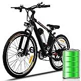 "Eloklem E-Bike Mountainbike Elektrofahrrad mit 21-Gang Shimano Nabenschaltung, 250W, 8AH, 36V Lithium-Ionen-Akku, 26"" Zoll, Pedelec Citybike Stadtrad leicht (Schwarz-Nicht faltbar)"
