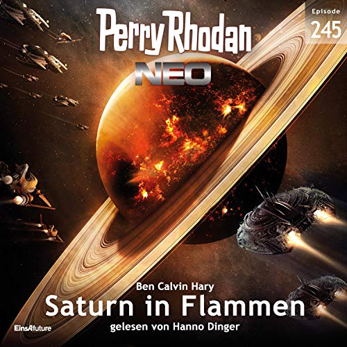 Saturn in Flammen Titelbild
