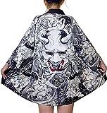 LAI MENG - Kimono da donna con motivo giapponese, maniche a 3/4, giacca leggera, taglie eu...