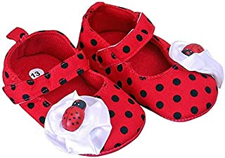 Rose Baby Girl Imported Ladybug Booties