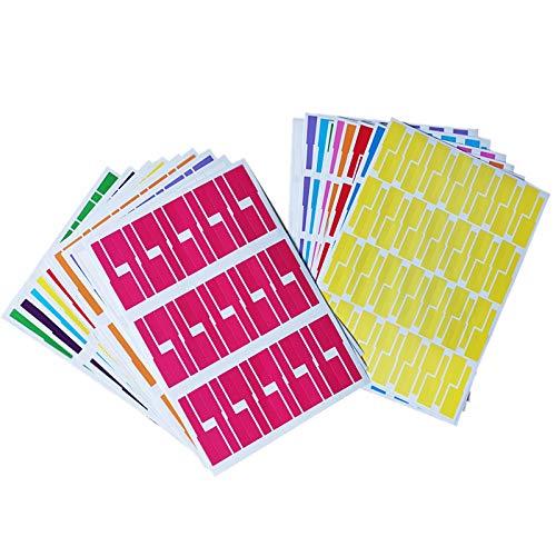 600 Stück Kabelbeschriftung, 10 Farben, 20 Blatt Kabel Etiketten Selbstklebend Kabelkennzeichnung A4-Format, Wasserdich Kabel Beschriftung, Kabel Aufkleber für Laserdrucker